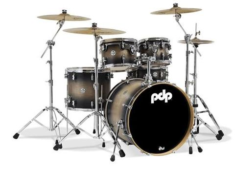 PDP 5pc Concept Maple Char Drums w Meinl