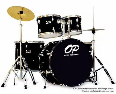 Opus Percussion 5pce BLACK Drum Kit