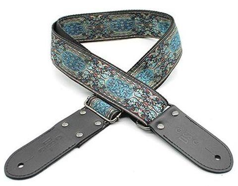 DSL Shiraz Blue Pattern Guitar Strap