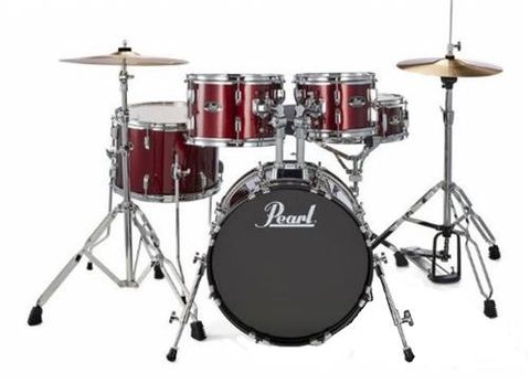 Pearl Roadshow JUNIOR Wine Red Drum Kit