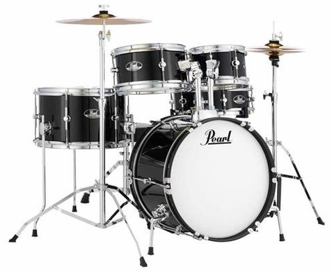 Pearl Roadshow JUNIOR Jet Black Drum Kit