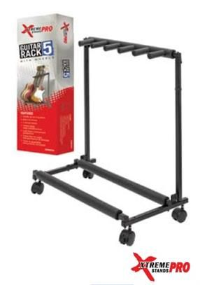 Xtreme 5 Rack Guitar Stand with Wheels
