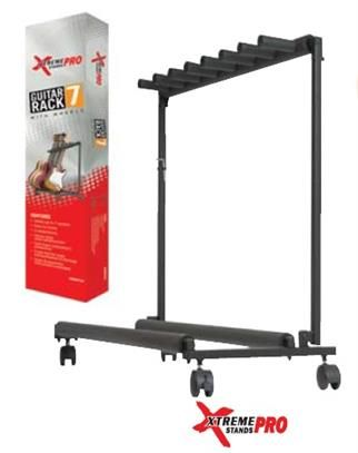 Xtreme 7 Rack Guitar Stand with Wheels
