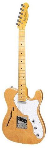 J&D TL Style F Hole Ash Electric Guitar