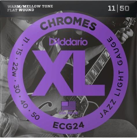 D'addario ECG24 Chromes Jazz Lite String
