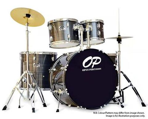 Opus Perc 5pce GREY Drum Kit
