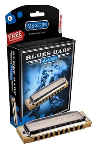 Hohner E New Box Blues Harp