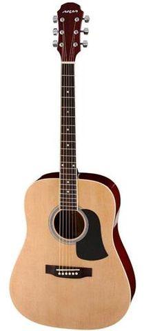 Aria AW15 SATIN NAT Dreadnought Guitar