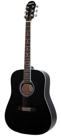 Aria AW15 MET BLACK Dreadnought Guitar