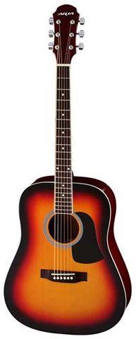 Aria AW15 BR SBURST Dreadnought Guitar