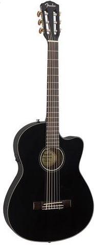 Fender CN140SCE Ac/El Blk Classic Guitar