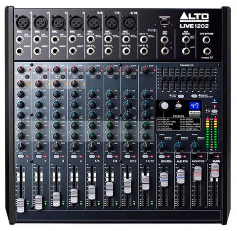 Alto LIVE1202 12Ch 2 Bus Mixer w100 FX