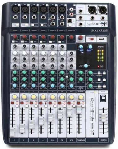 Soundcraft SIG10 10Ch Mixer w USB w FX
