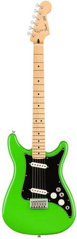 Fender Neon Green Player Lead II Guitar