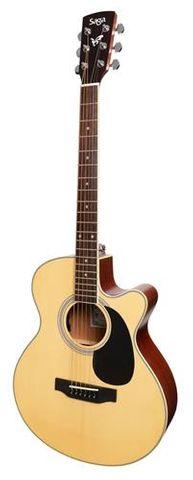 Saga SA700C Solid Top SB Ac/El Guitar