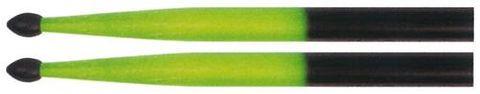 Total Perc GREEN/BLK 5A NT Drum Sticks