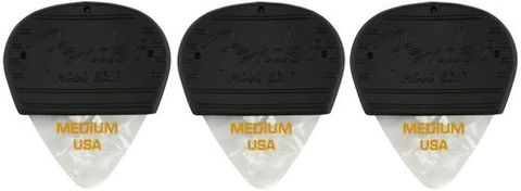 Fender 3 Pk Mojo Grip White MED Picks