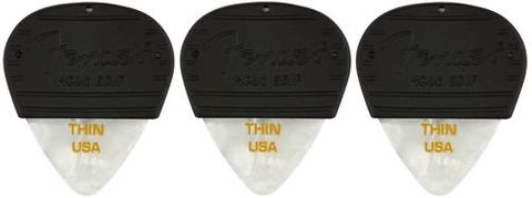 Fender 3 Pk Thin Mojo Grip White Moto