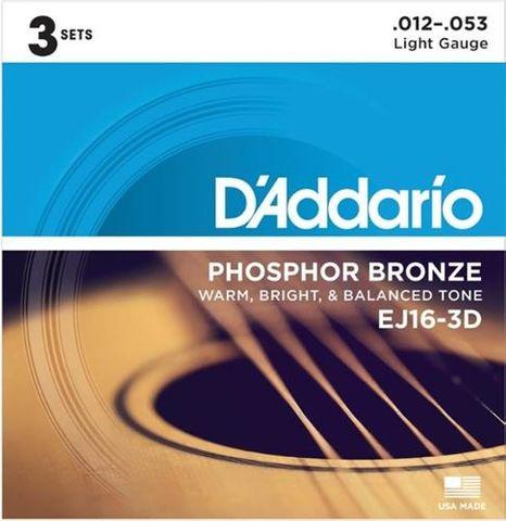 D'Addario 3D EJ16 Acoustic Guitar String