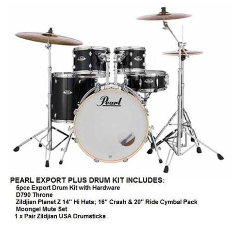 Pearl EXX Export Plus 22in Fusion BLACK