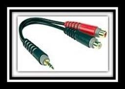 Klotz Y Cable 20cm Mini Jack to 2RCA
