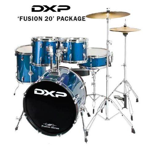 DXP 20in Fusion BLUE Drum Kit