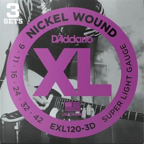 D'Addario 3D EXL120 Electric Guitar Str.