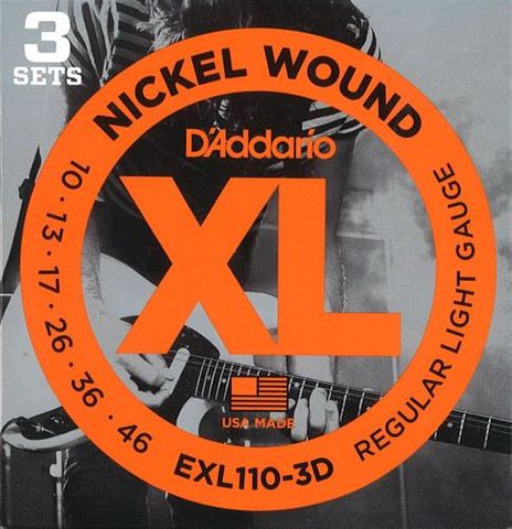 D'Addario 3D EXL110 Electric Guitar Str.