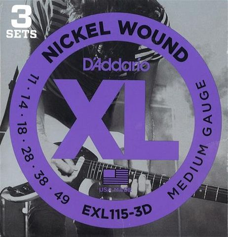 D'Addario 3D EXL115 Electric Guitar Str.