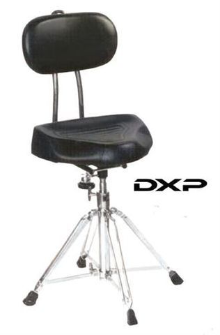 DXP 192 Drum Throne Saddle Seat w Back