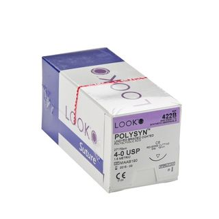 Look Absorbable Polysyn 4/0 Suture 19mm - Box (12)