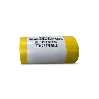 Clinical Waste Bag Yellow 457x990x711mm Heavy Duty - Box (100)