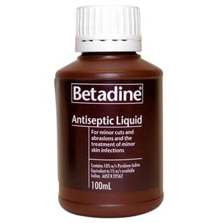 Betadine Antiseptic Skin Prep Liquid 100mL - Each