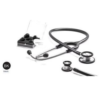 ABN Classic Adult Dual Head Stethoscope Black (417)