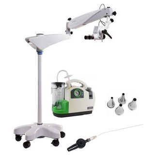 Ear Toilet Package Pro: Microscope, Suction Unit, Ear Speculam Gruber Set & Cannulas