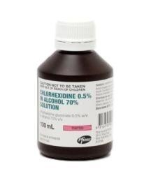 Chlorhexidine 0.5% Alcohol 70% Soln 25ml  - Box (20)