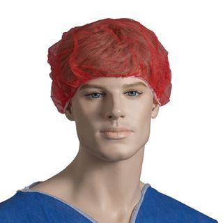 Bouffant Cap 53cm Non Woven Red - Pack (100)