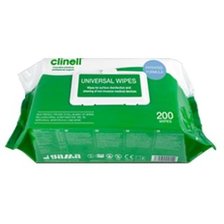 Clinell Universal Wipes FLAT PACK 200s - CARTON (6)