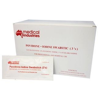 Povidone Iodine Sticks 3s - Box (50)