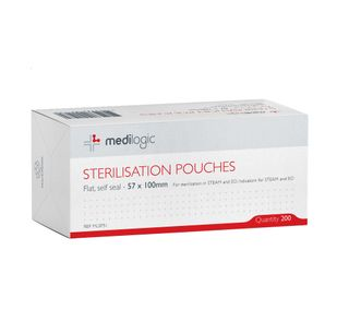 Sterilisation Pouch Medilogic 57 x 100mm - Box (200)