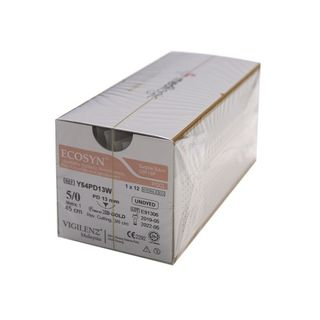 Vigilenz Ecosyn 4-0 19mm Primecut 75cm Undyed Sutures - Box (12)