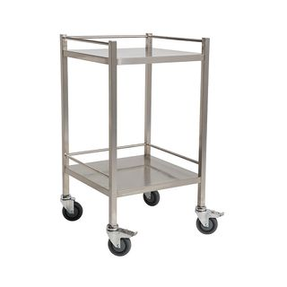 Qube Stainless Steel Instrument Trolley W490 x D490 x H970mm