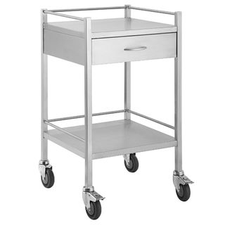 Qube Stainless Steel Instrument Trolley 1 Drawer W500 x D500 x H900mm