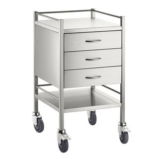 Qube Series Dressing Trolley 3 Drawers