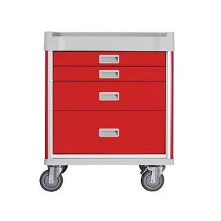 Viva Emergency Cart Red - 4 Drawer W690mm x D520mm x H850mm (GC0890)