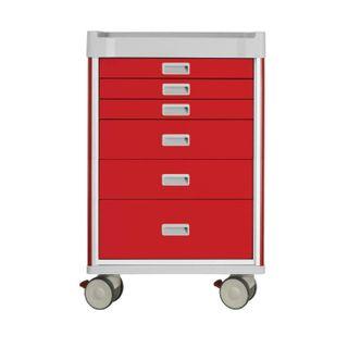 Viva Emergency Cart Red - 6 Drawers W690mm x D520mm x H1085mm (GC0930)