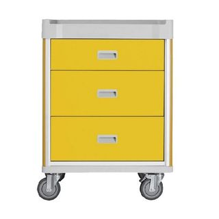 Viva Isolation Cart Yellow - 3 Drawers W690mm x D520mm x H930mm (GC1040)