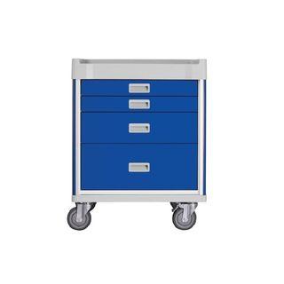 Viva Anaesthetic Cart Blue - 4 Drawer W690mm x D520mm x H850mm (GC0780)