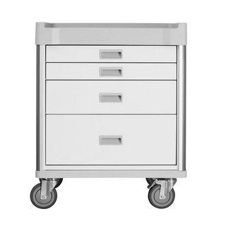 Viva Procedure Cart White - 4 Drawers W690mm x D520mm x H930mm (GC1680)