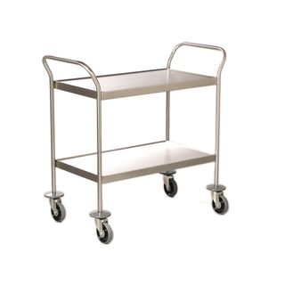 Stainless Steel Classic Multi Purpose Trolley 2 Shelves